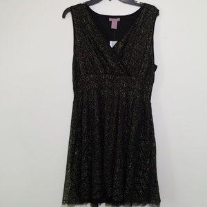 Black and Gold sleeveless dress